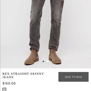 All Saints Rex Straight Skinny Jeans (NEVER WORN)